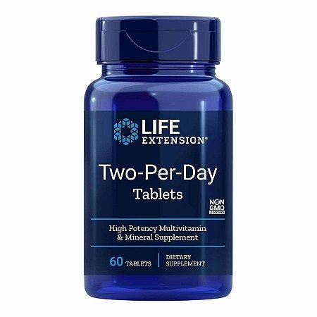 Dois por dia - 60 comprimidos - Life Extension (Envio Internacional 10-20 FRETE GRÁTIS)