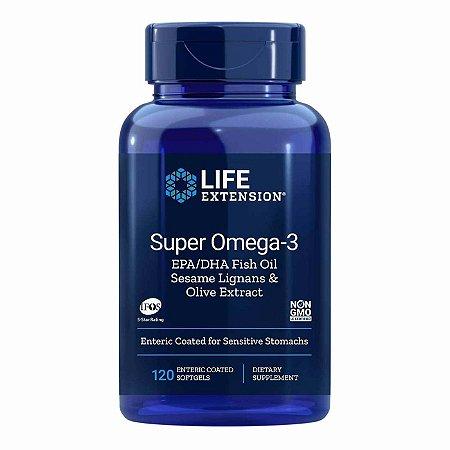 Super Omega-3 Óleo de Peixe EPA DHA Gergelim Lignans - Extrato de Azeitona - Krill e Astaxantina - 120 Cápsulas em Gel - Life Extension (Envio Internacional 10-20 FRETE GRÁTIS)