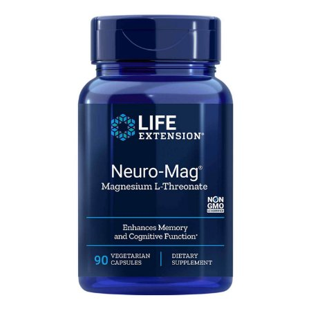 Neuro-Mag Magnésio L-Treonato - 90 Cápsulas Vegetarianas - Life Extension (Envio Internacional 10-20 FRETE GRÁTIS)