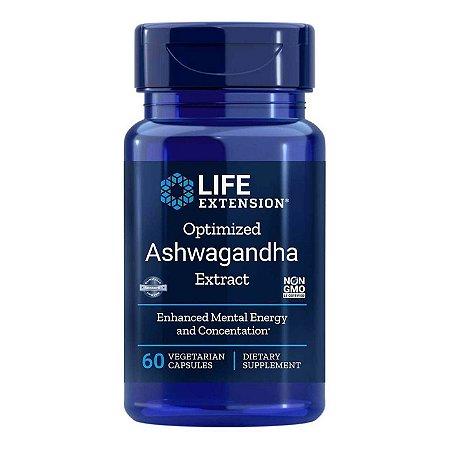 Extrato de Ashwagandha otimizado - 125 mg - 60 cápsulas vegetais Life Extension (Envio Internacional 10-20 FRETE GRÁTIS)
