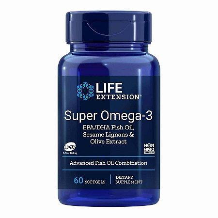 Super Omega-3 entérico revestido 60 cápsulas - Life Extension (Envio Internacional 10-20 FRETE GRÁTIS)