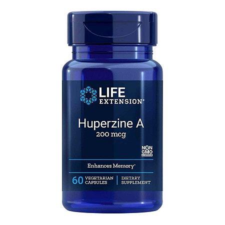 Huperzine A - 60 Cápsulas Vegetarianas - Life Extension (Envio Internacional 10-20 FRETE GRÁTIS)