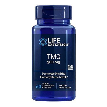 TMG - 60 cápsulas líquidas vegetarianas - Life Extension (Envio Internacional 10-20 FRETE GRÁTIS)