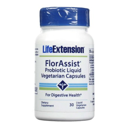 FlorAssist - 30 cápsulas líquidas - Life Extension (Envio Internacional 10-20 FRETE GRÁTIS)