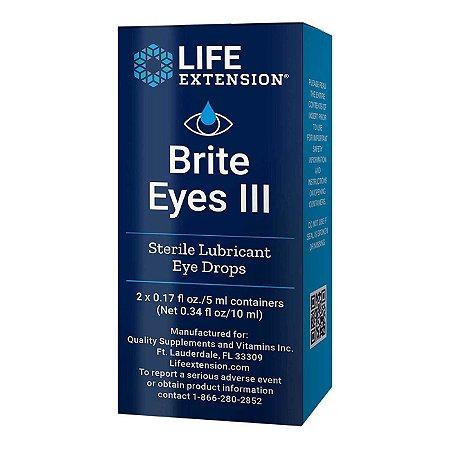 Brite Eyes III - Frascos de 2 a 5 mL - Life Extension (Envio Internacional 10-20 FRETE GRÁTIS)