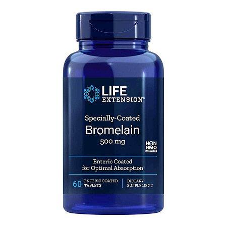Bromelina especialmente revestida - 60 comprimidos entéricos revestidos Life Extension - (Envio Internacional 10-20 FRETE GRÁTIS)