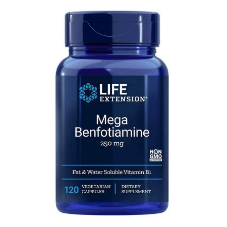 Mega Benfotiamina 250 mg - 120 Cápsulas Vegetarianas - Life Extension (Envio Internacional 10-20 FRETE GRÁTIS)