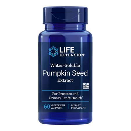 Extrato de semente de abóbora solúvel em água - 60 cápsulas vegetarianas - Life Extension(Envio Internacional 10-20 FRETE GRÁTIS)