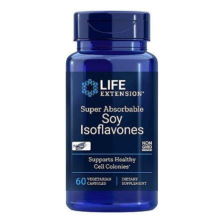 Isoflavonas Super Absorvíveis de Soja - 60 Cápsulas Vegetarianas - Life Extension (Envio Internacional 10-20 FRETE GRÁTIS)