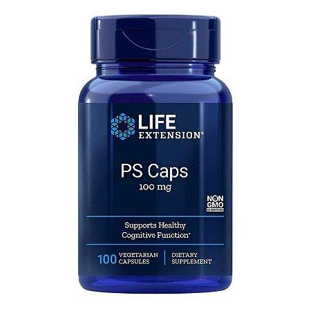 PS Caps - 100 Cápsulas Vegetarianas -Life Extension (Envio Internacional 10-20 FRETE GRÁTIS)