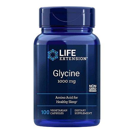 Glycine - 100 Cápsulas Vegetarianas - Life Extension(Envio Internacional 10-20 FRETE GRÁTIS)