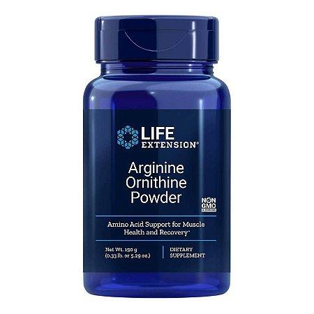 Arginina Ornitina em pó - 150 g (5,29 onças) -  Life Extension(Envio Internacional 10-20 FRETE GRÁTIS)