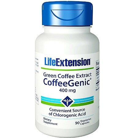 Coffee Genic Extrato de Café Verde 90 Cápsulas - Life ExtensionEnvio Internacional 10-20 FRETE GRÁTIS