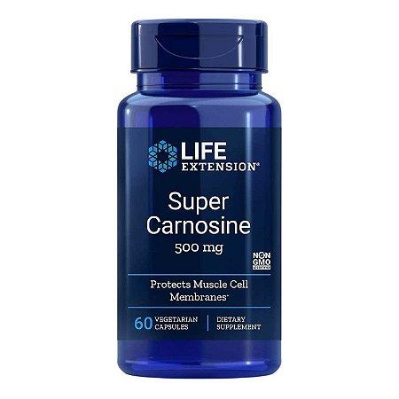 Super Carnosina - 500 mg - 60 Cápsulas - Life Extension (Envio Internacional 10-20 FRETE GRÁTIS)