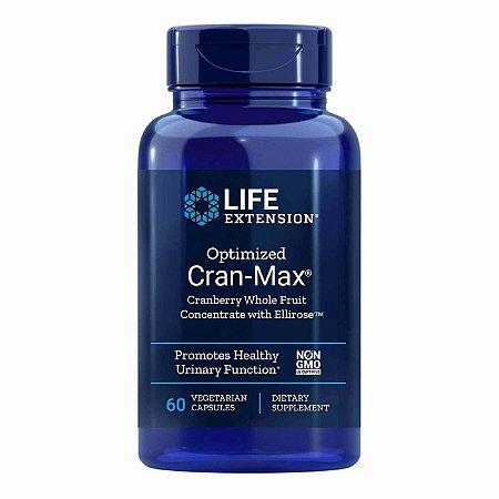 Cran-Max Cranberry Max Concentrado de Frutas Inteiras com Ellirose - 60 Cápsulas Vegetarianas - Life Extension   (Envio Internacional 10-20 FRETE GRÁTIS)