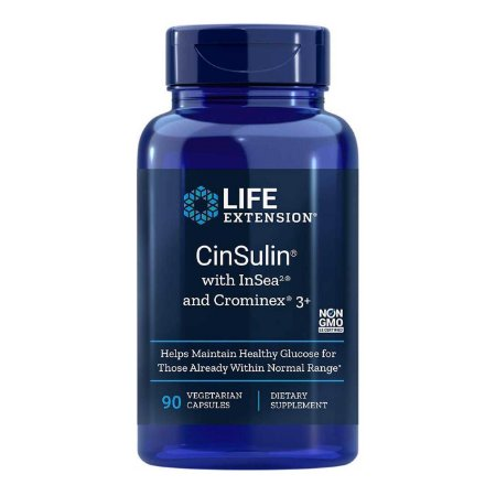 CinSulin com InSea2 e Crominex 3 Plus - 90 cápsulas vegetarianas - Life Extension   (Envio Internacional 10-20 FRETE GRÁTIS)