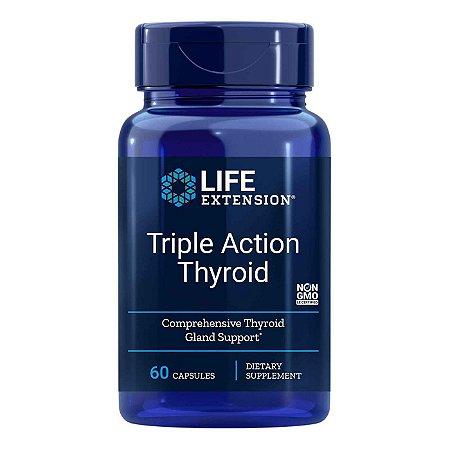 Tireóide de Ação Tripla - 60 Cápsulas Vegetarianas -   Life Extension   (Envio Internacional 10-20 FRETE GRÁTIS)