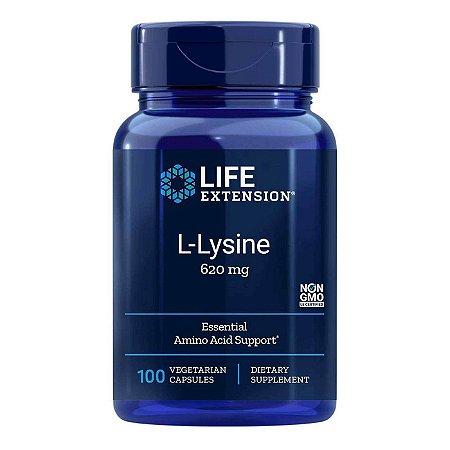 L-Lisina - 100 Cápsulas Vegetarianas - Life Extension   (Envio Internacional 10-20 FRETE GRÁTIS)