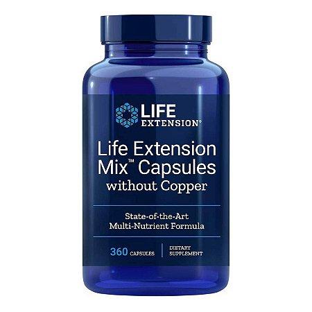 Misture Cápsulas  Sem Cobre - 360 Cápsulas - Life Extension   (Envio Internacional 10-20 FRETE GRÁTIS)