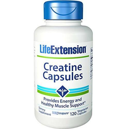 Cápsulas de creatina - 120 cápsulas - Life Extension   (Envio Internacional 10-20 FRETE GRÁTIS)