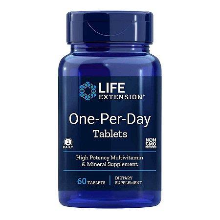 Comprimidos de um por dia - 60 comprimidos - Life Extension   (Envio Internacional 10-20 FRETE GRÁTIS)