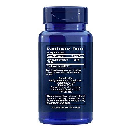 DHEA - 25 mg - 100 comprimidos - Life Extension   (Envio Internacional 10-20 FRETE GRÁTIS)