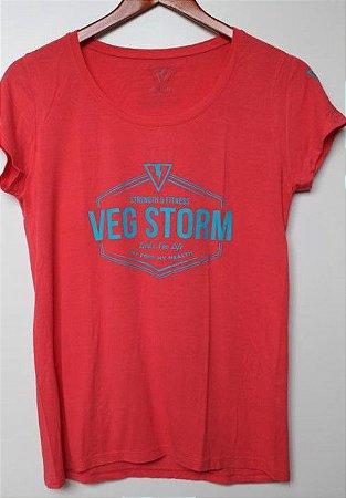 Camiseta Viscolycra  feminina melancia com azul turquesa