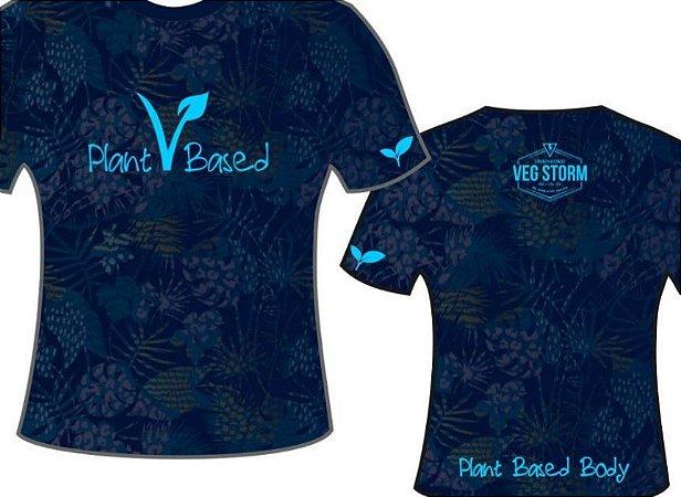 Camiseta dry fit marinho florida com azul claro Plant Based coleção 2019