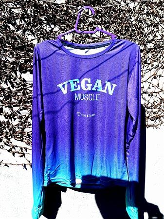 Camiseta manga longa corta vento Vegan Muscle dry fit