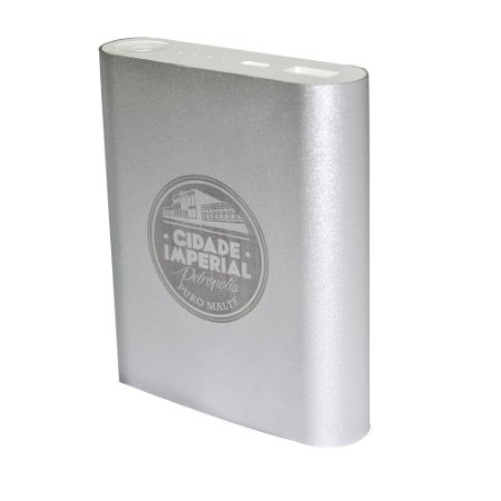 Carregador Portátil 4 Baterias Prata - Cidade Imperial