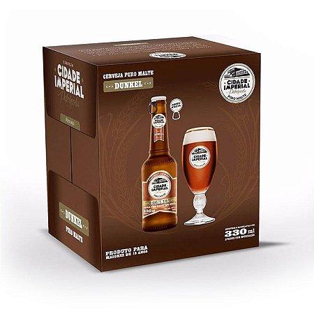 Cerveja Cidade Imperial Dunkel Long Neck 330ml com tampa abre fácil caixa com 6