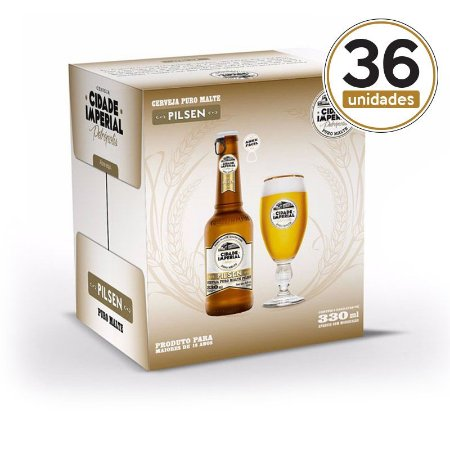 Kit Mini Festa Cidade Imperial com 36 Long Necks Pilsen com 330ml com tampa abre fácil