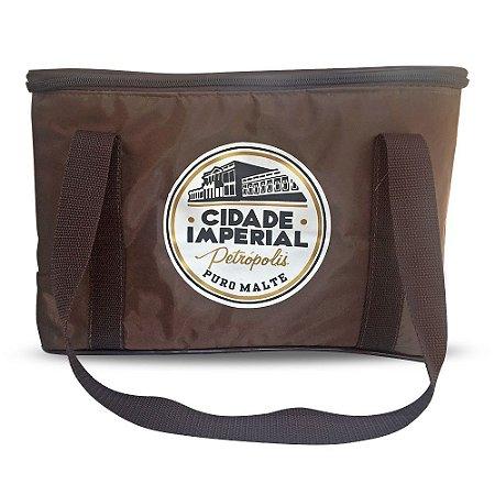 Bolsa Térmica 15 litros Marrom - Cerveja Cidade Imperial