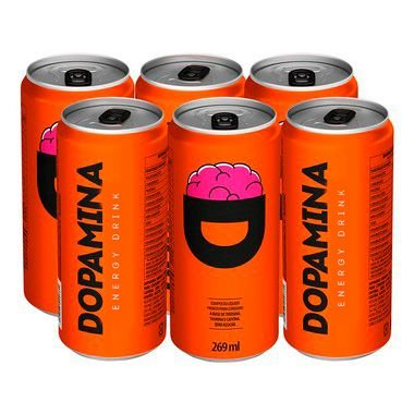 Dopamina Energy Drink 269ml Pack com 6 latas