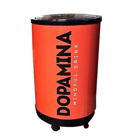 Cooler com capacidade para 75 latas de Dopamina Mindful Drink