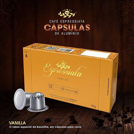 CAFÉ TORRADO E MOÍDO ESPRESSIATA VANILLA EM CAPSULA CX C/ 10 CAPSULAS
