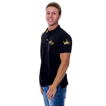 Camiseta MASCULINA Polo Império com Logo em Alto Relevo - 4 Cores