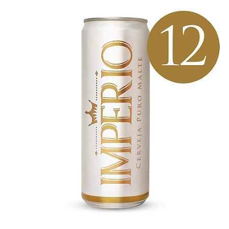 Pack com 12 Cervejas Império Puro Malte Tipo Pilsen Lata 350ml
