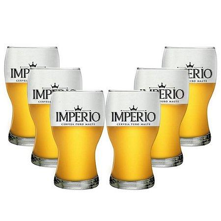 Conjunto com 6 Copos Amsterdam 215ml Cerveja Império