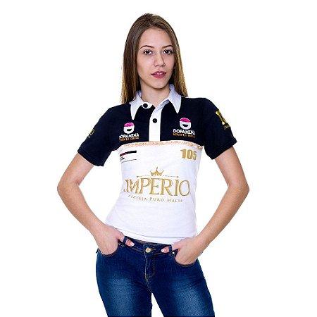 Camiseta FEMININA Branca Polo Império RACING 105