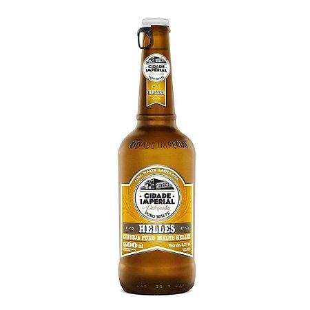 Cerveja Cidade Imperial Helles Long Neck 500ml com tampa abre fácil