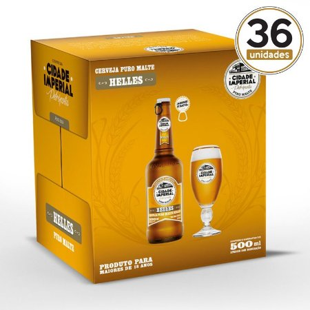 Kit Mini Festa Cidade Imperial com 36 Long Necks Helles 500ml​ com tampa abre fácil
