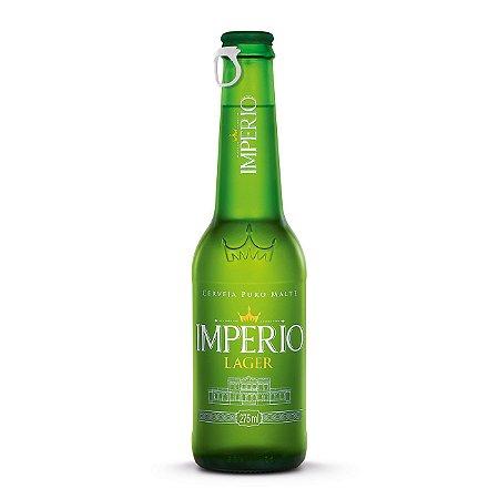 Cerveja Império Lager Puro Malte Long Neck 275ml com tampa abre fácil
