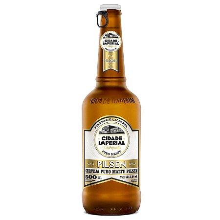 Cerveja Cidade Imperial Pilsen Long Neck 500ml com tampa abre fácil