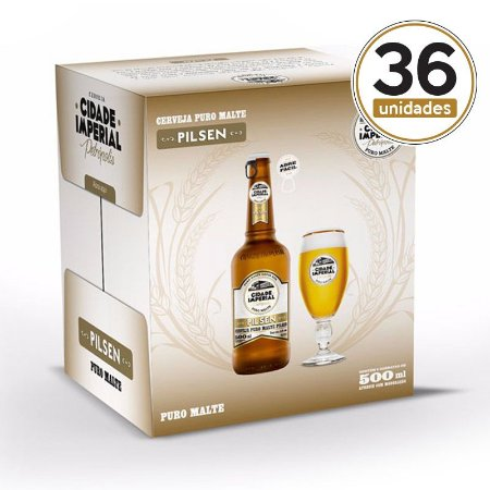 Kit Mini Festa Cidade Imperial com 36 Long Necks Pilsen com 500ml com tampa abre fácil