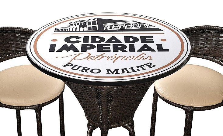 Conjunto Bistro Imperatriz com Tampo em MDF Cerveja Cidade Imperial