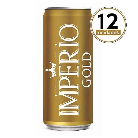Pack com 12 Cervejas Império Gold Puro Malte Lata 269ml