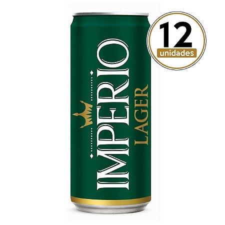 Pack com 12 Cervejas Império Lager Puro Malte Lata 269ml