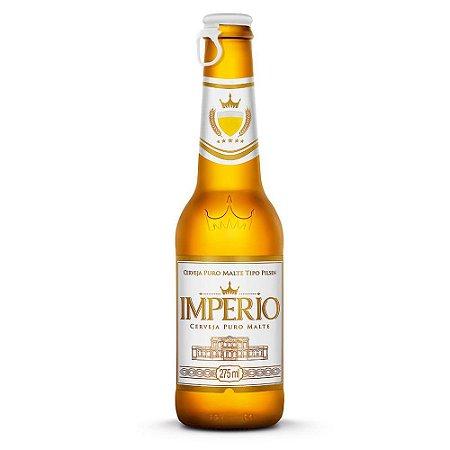 Cerveja Império Pilsen Puro Malte Long Neck 275ml com tampa abre fácil