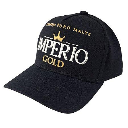 Boné Cerveja Império Gold Preto com Escrita